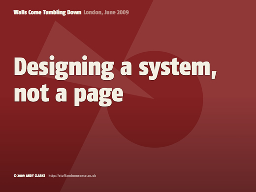 Designing a system, not a page